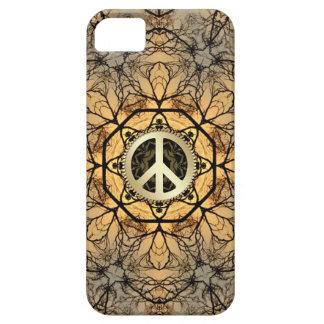 Caja de oro del iPhone 5 del signo de la paz del b iPhone 5 Case-Mate Carcasas