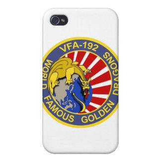 Caja de oro del iPhone de los dragones VFA-192 iPhone 4/4S Funda