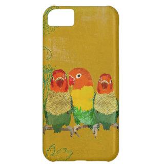 Caja de oro del iPhone de los pájaros del amor del Funda Para iPhone 5C