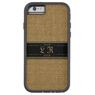 Caja de oro del monograma del personalizado del funda de iPhone 6 tough xtreme
