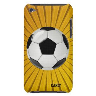 Caja de oro del tacto de iPod del balón de fútbol Cubierta Para iPod De Barely There