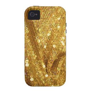 Caja de oro del teléfono de Bling iPhone 4/4S Funda