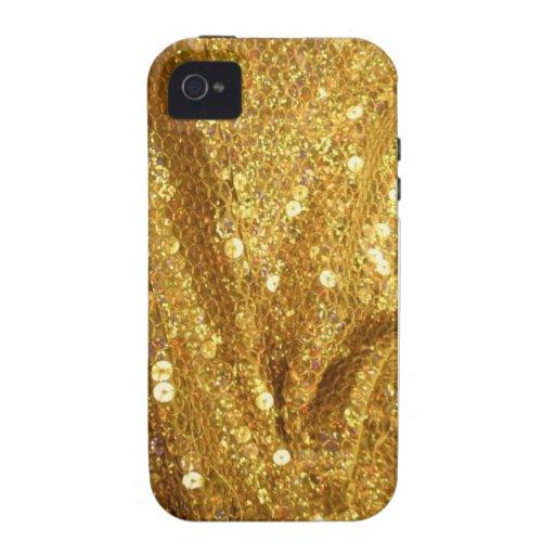 Caja de oro del teléfono de Bling Case-Mate iPhone 4 Funda
