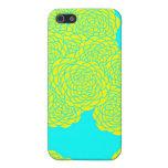 Caja de oro del teléfono de la floración (trullo)  iPhone 5 cárcasas