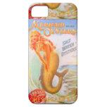 caja de oro del teléfono de la sirena iPhone 5 carcasas
