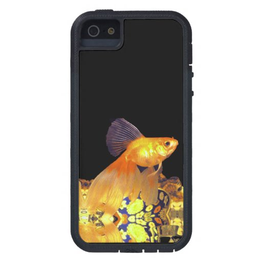 CAJA DE ORO JEWELED DEL TELÉFONO DEL GOLDFISH iPhone 5 Case-Mate COBERTURAS