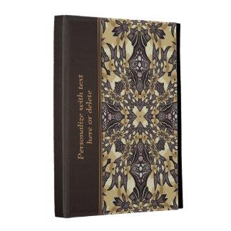 Caja de oro medieval del folio del iPad del modelo
