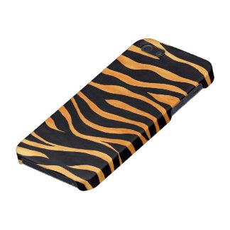 Caja de oro y negra del estampado de animales del  iPhone 5 carcasa