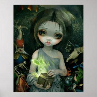 Caja de Pandora grande del arte de los ojos de la  Posters