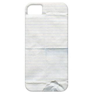Caja de papel de la casamata del cuaderno funda para iPhone 5 barely there