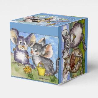 Caja de papel de los dibujos animados divertidos caja para regalos de fiestas