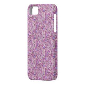 Caja de papel pintada Paisley púrpura del iPhone 5 iPhone 5 Cárcasa