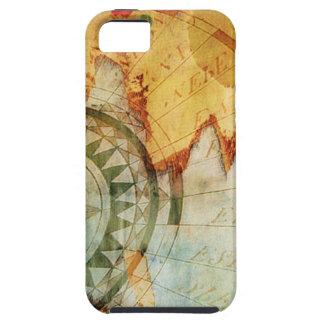 Caja de papel rasgada compás anticuario del iPhone iPhone 5 Case-Mate Protectores