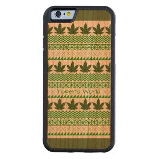 Caja de parachoques tribal del teléfono del mundo funda de iPhone 6 bumper cerezo