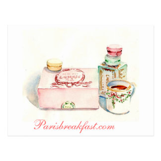 Caja de París Macaron por el villancico Gillott Postal