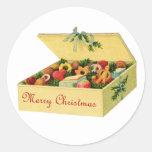Caja de pegatinas de las galletas del navidad