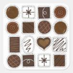 Caja de pegatinas del caramelo del el día de San Pegatina Cuadrada