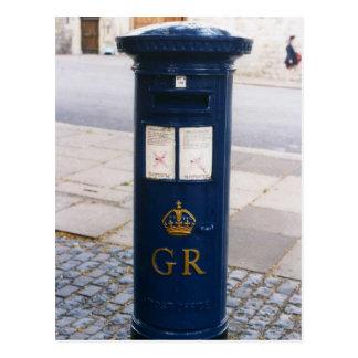 Caja de pilar británica del correo aéreo tarjeta postal