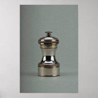 Caja de pimienta de plata del siglo XIX, París, Fr Impresiones