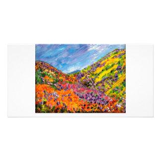 Caja de pinturas de dioses tarjeta fotográfica