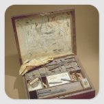 Caja de pinturas de John James Audubon Calcomanía Cuadradas