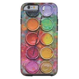 Caja de pinturas de la acuarela funda de iPhone 6 tough
