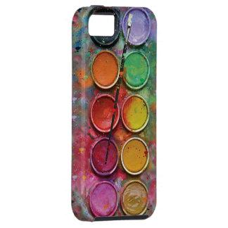 Caja de pinturas de la acuarela iPhone 5 carcasas