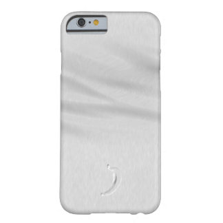Caja de plata del teléfono del plátano funda de iPhone 6 barely there