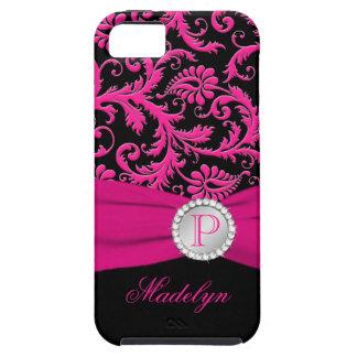 Caja de plata negra rosada del iPhone 5 del iPhone 5 Carcasas
