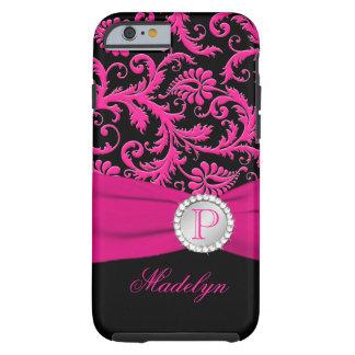 Caja de plata negra rosada del iPhone 6 del Funda De iPhone 6 Tough
