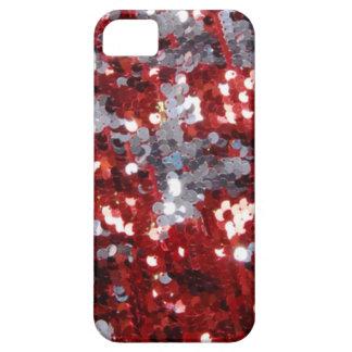 Caja de plata y roja del teléfono de las iPhone 5 funda