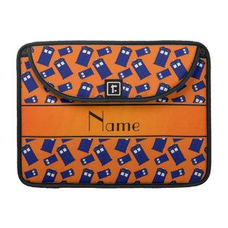 Caja de policía anaranjada conocida personalizada fundas macbook pro