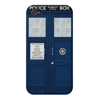 Caja de policía azul iPhone 4/4S carcasas