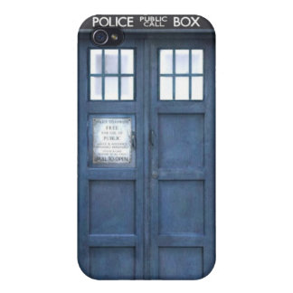 Caja de policía azul iPhone 4 carcasas