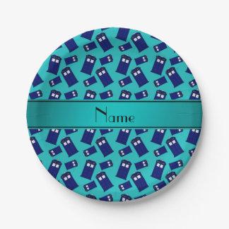 Caja de policía conocida personalizada de la platos de papel