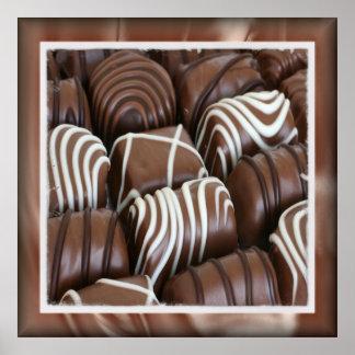 Caja de poster de los chocolates