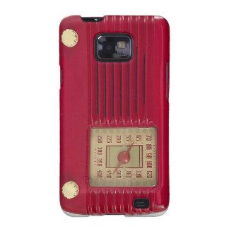 Caja de radio roja del teléfono galaxy s2 fundas