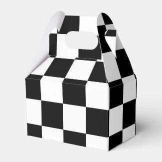 Caja de regalo a cuadros blanco y negro del fiesta cajas para regalos de fiestas
