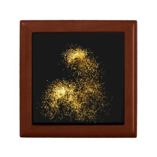 Caja de regalo abstracta de la foto de los fuegos  joyero cuadrado pequeño