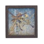Caja de regalo abstracta de la melodía cajas de joyas de calidad