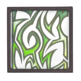 Caja de regalo abstracta Verde-Amarilla Caja De Regalo De Calidad