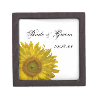 Caja de regalo amarilla de boda del girasol cajas de recuerdo de calidad
