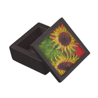 Caja de regalo amarilla de los girasoles caja de recuerdo de calidad