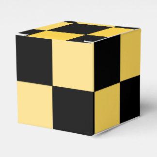 Caja de regalo amarilla negra del favor de fiesta cajas para regalos de fiestas