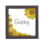 Caja de regalo amarilla personalizada del girasol cajas de recuerdo de calidad
