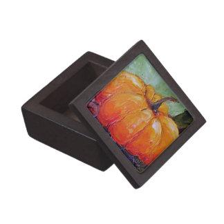 Caja de regalo anaranjada de la calabaza de París Caja De Recuerdo De Calidad