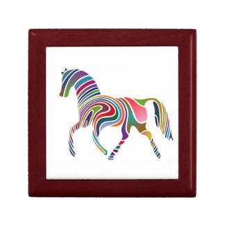 Caja de regalo Arco iris-Coloreada del caballo