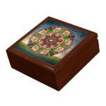 Caja de regalo armenia de las uvas de la mandala joyero cuadrado grande