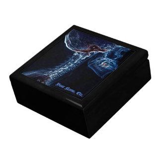 Caja de regalo azul de la C-espina dorsal Joyero Cuadrado Grande