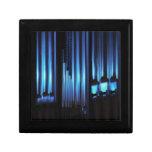 Caja de regalo azul de los tubos de órgano